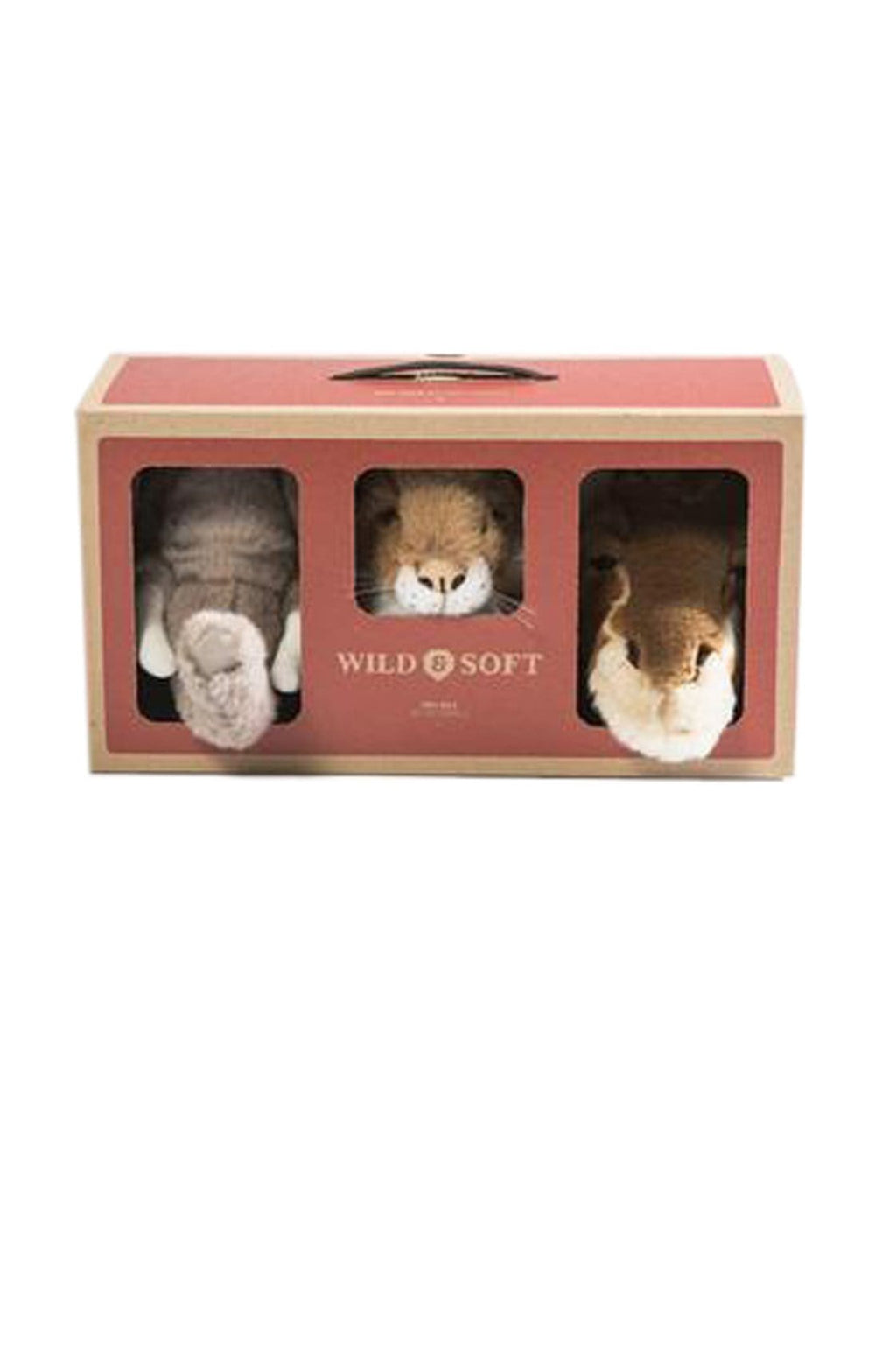 Wild and Soft Safari Box, Mini Elephant, Giraffe & Lion - Hello Little Birdie