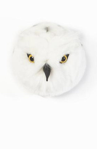 Wild and Soft Plush Wall Head Chloe the Snowy Owl