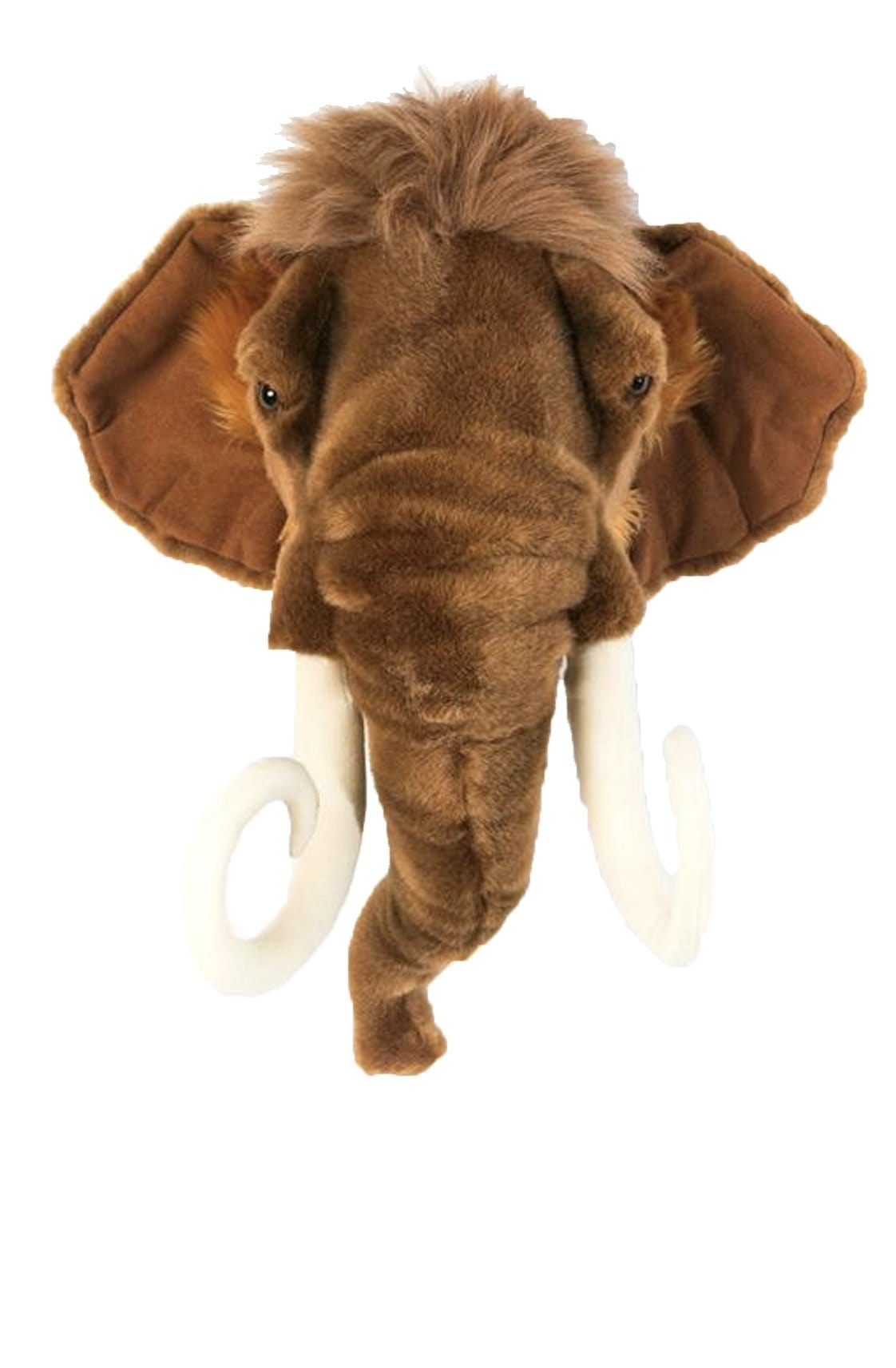 Wild and Soft Plush Wall Head Arthur the Mammoth