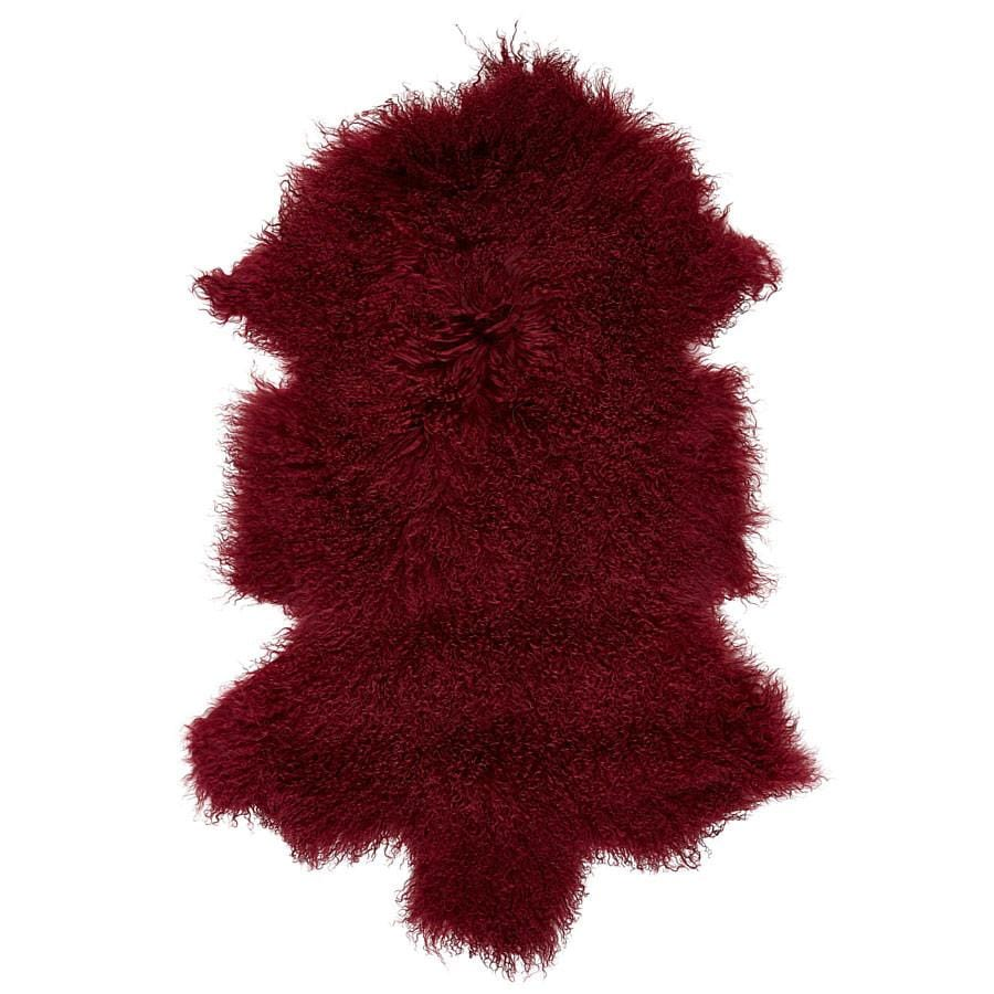 Mongolian Sheepskin Rug - Wine - Hello Little Birdie