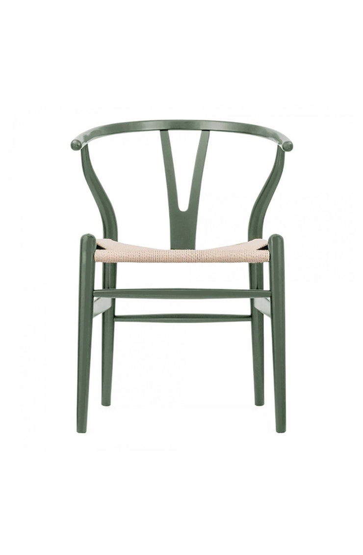 Wishbone Chair, Deep Olive / Natural - Hello Little Birdie