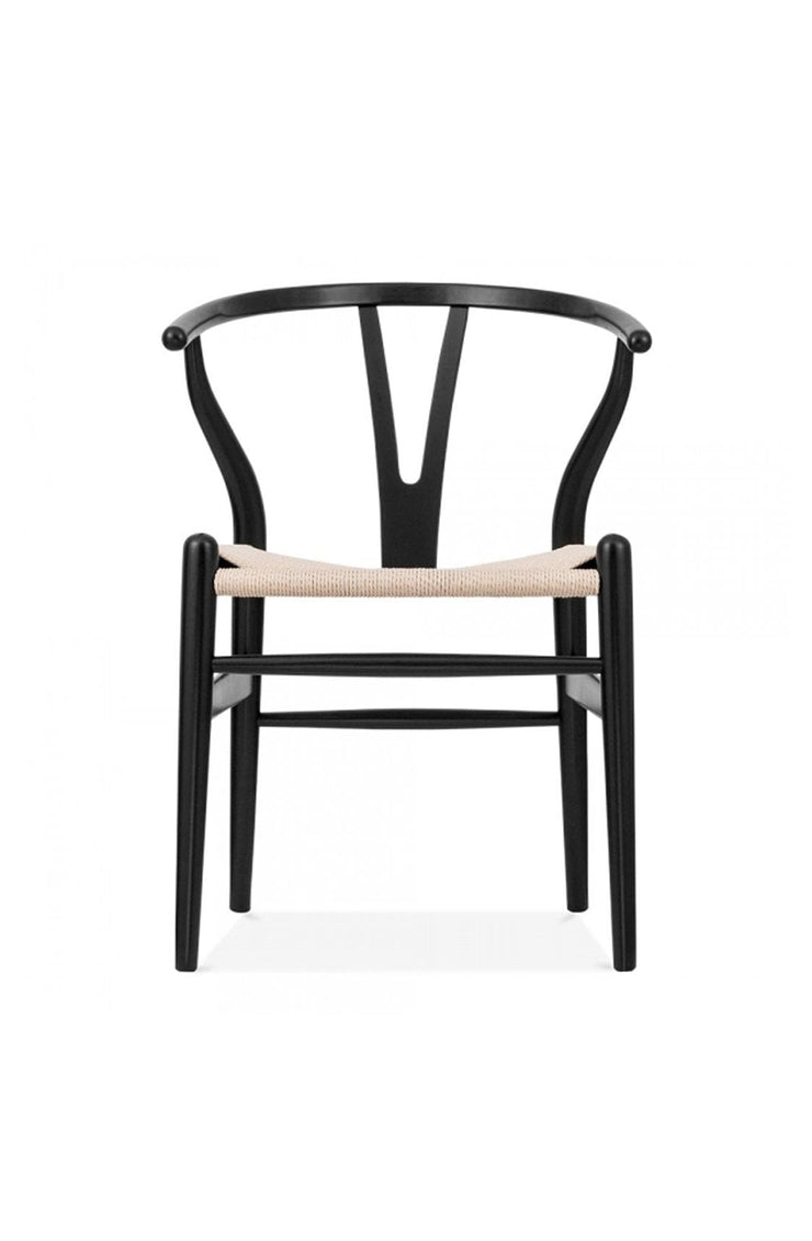 Wishbone Chair Black / Natural - Hello Little Birdie