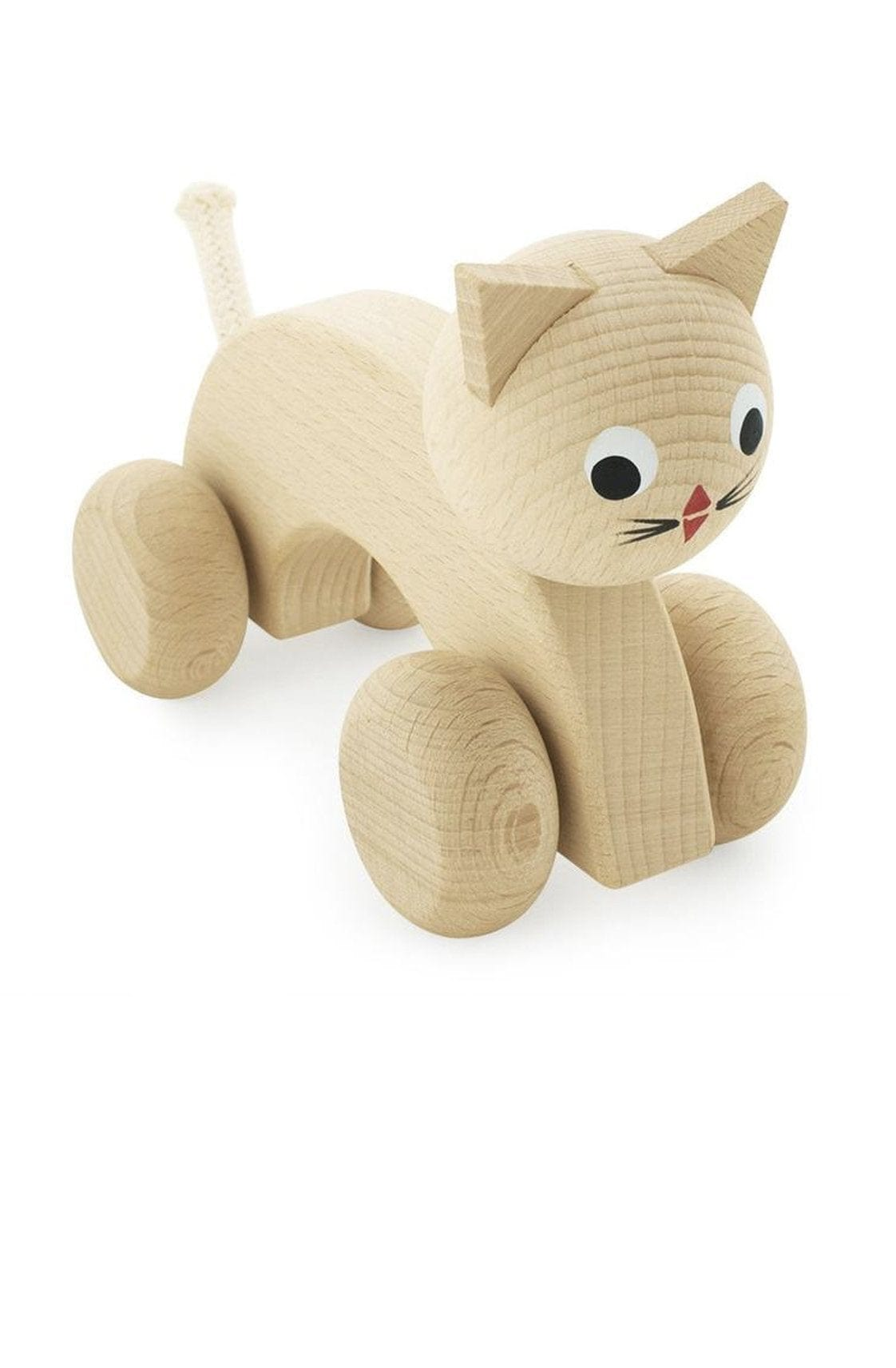 Miva Vacov Wooden Push Along, Kitty - Hello Little Birdie