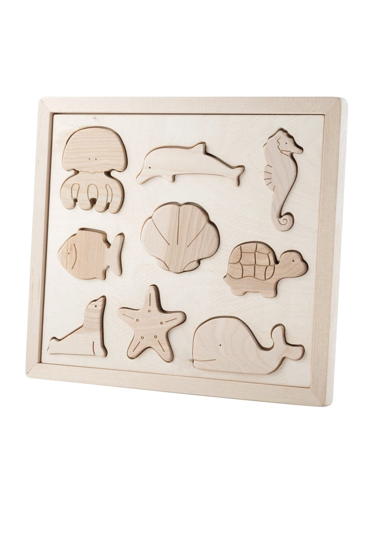 Kubi Dubi Wooden Sorting Puzzle, Sea Creatures - Hello Little Birdie
