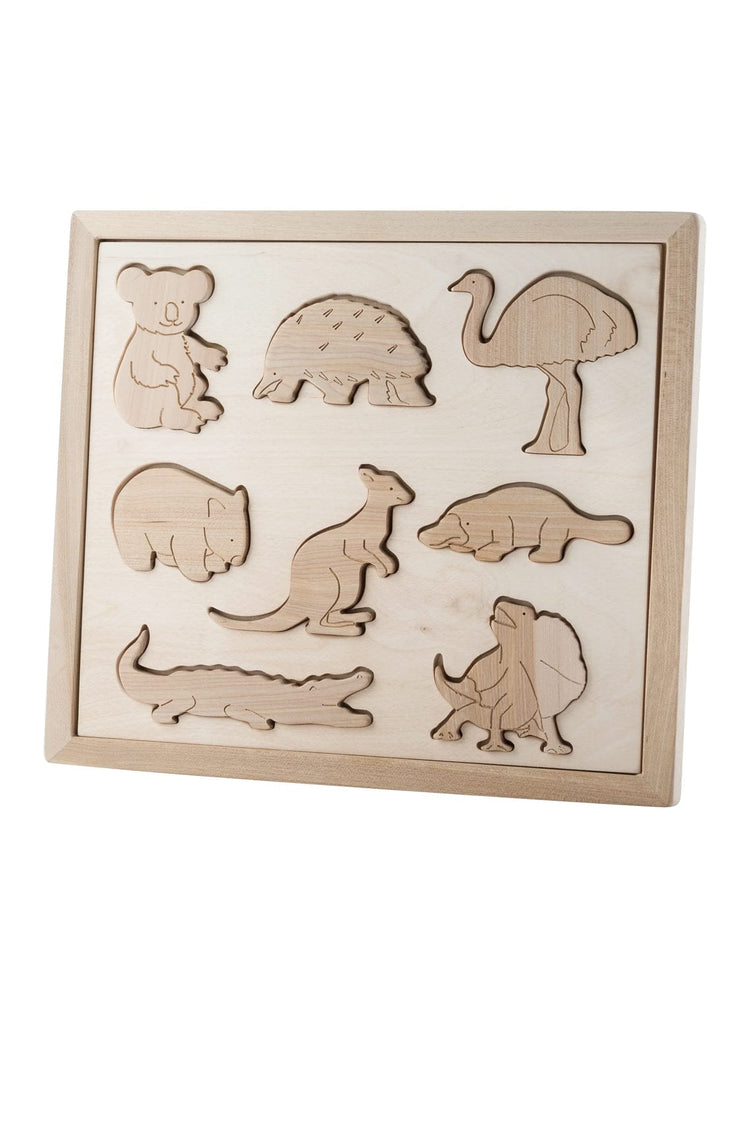 Kubi Dubi Wooden Sorting Puzzle, Animals Of Australia - Hello Little Birdie