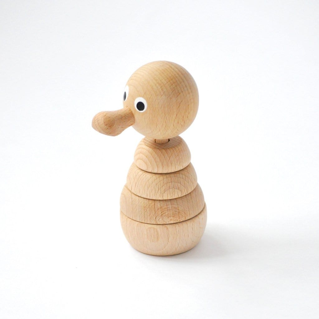 Miva Vacov Wooden Stacking Puzzle Duck, Franklin - Hello Little Birdie