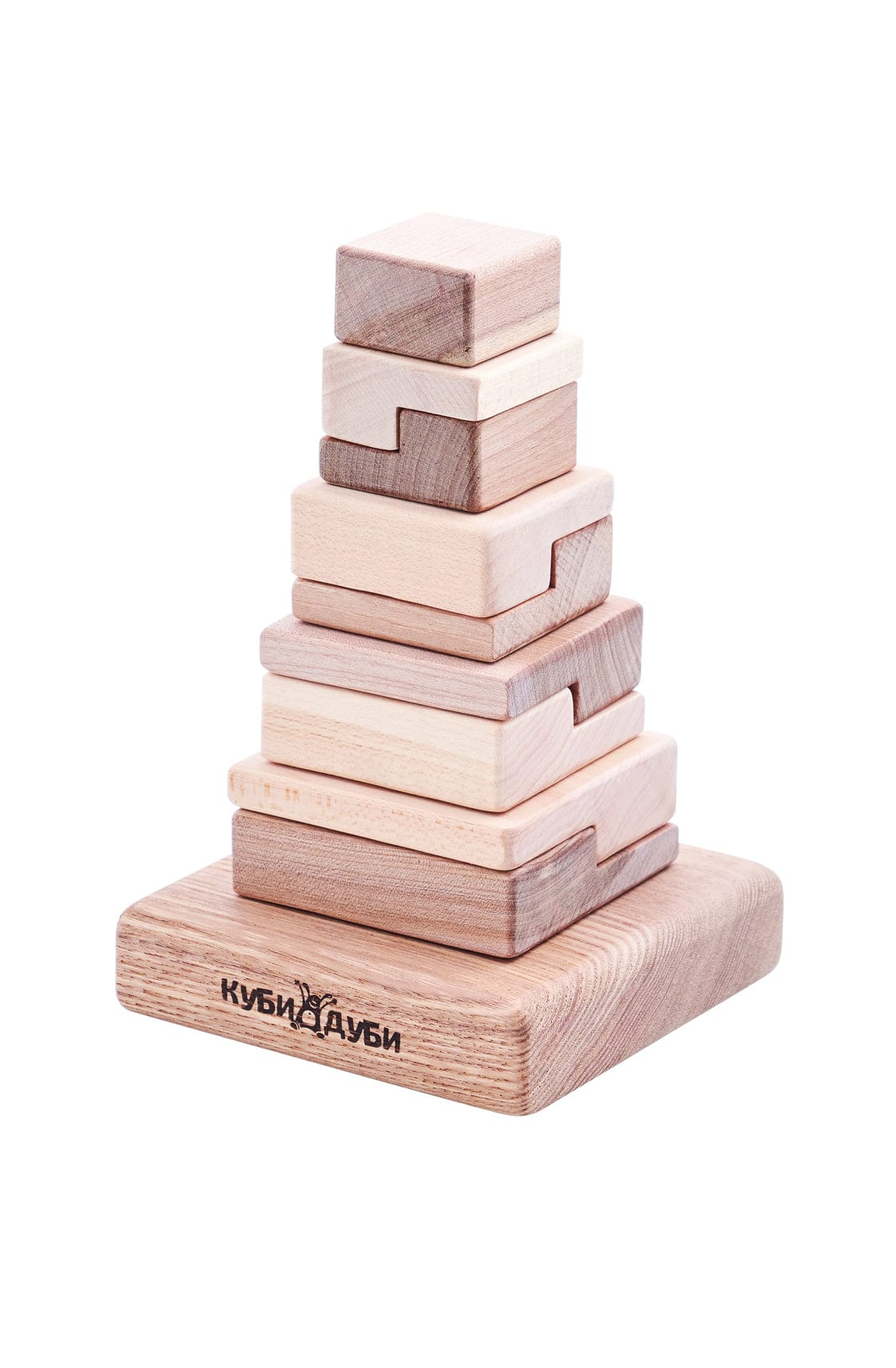 Kubi Dubi Wooden Stacking Puzzle, Techno (PRE-ORDER OCT) - Hello Little Birdie