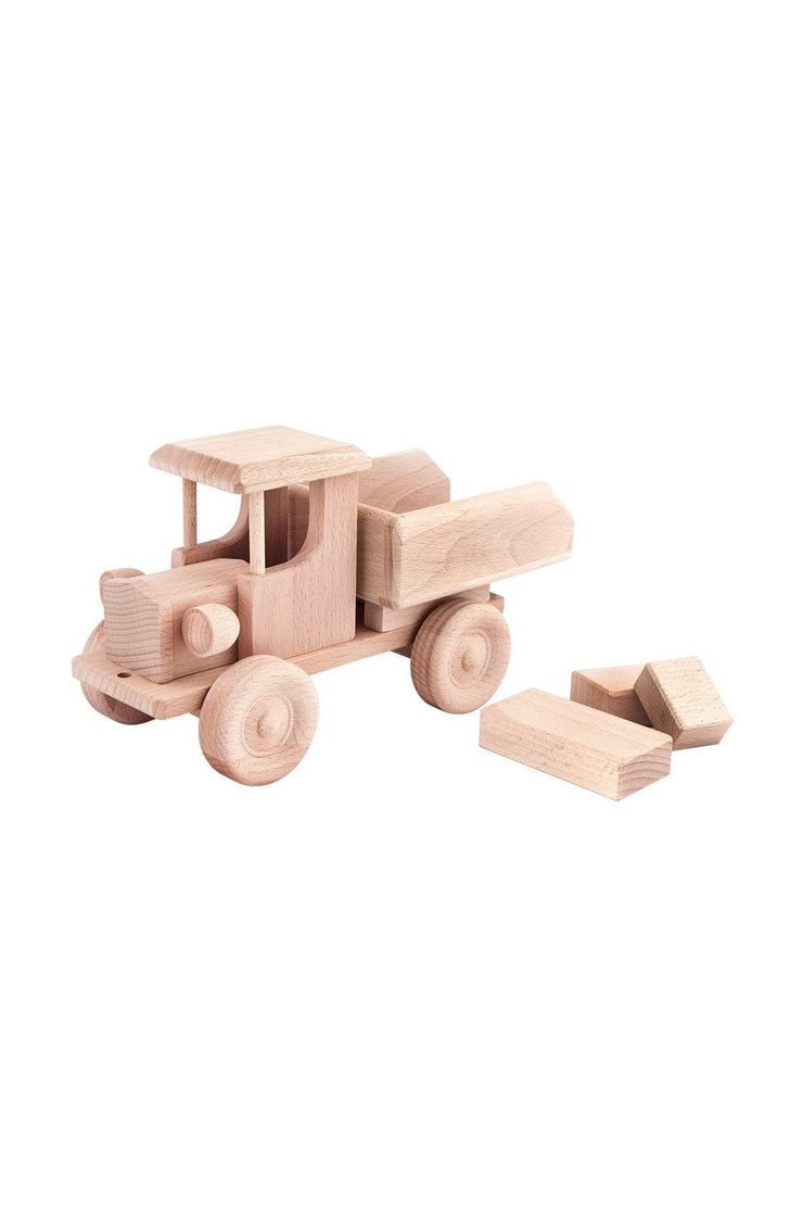 Jasio Wooden Wooden Tipping Truck, Ruby - Hello Little Birdie