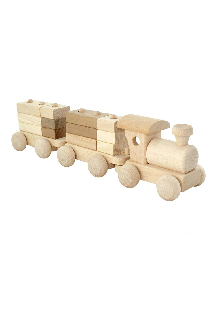 Jasio Wooden Train With Stacking Blocks, Esme - Hello Little Birdie