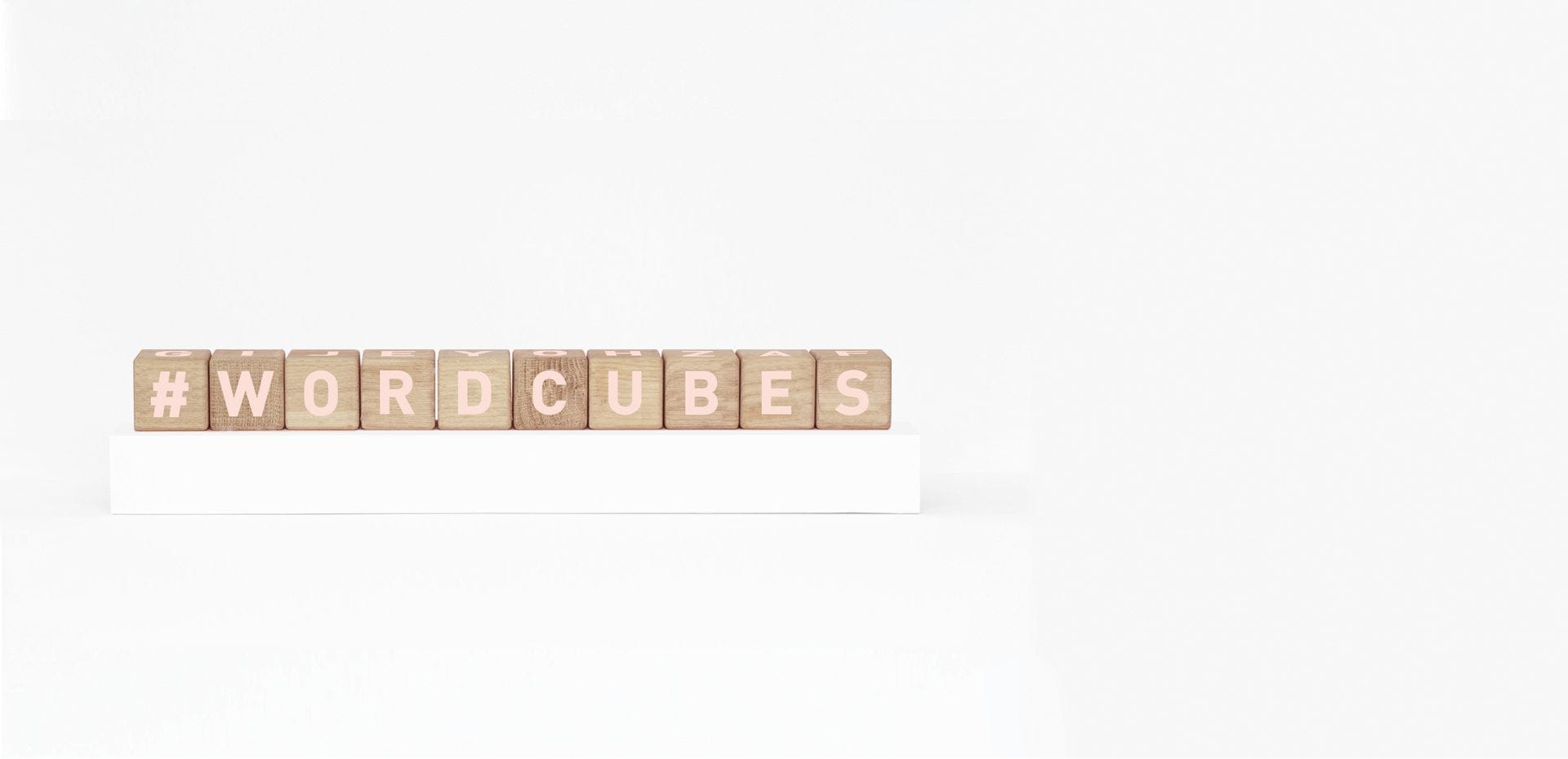 Maison Deux, Alphabet Word Cubes Blush - Hello Little Birdie