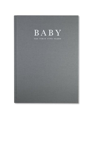 Write To Me, Baby Journal - Birth To Five Years, Grey - Hello Little Birdie