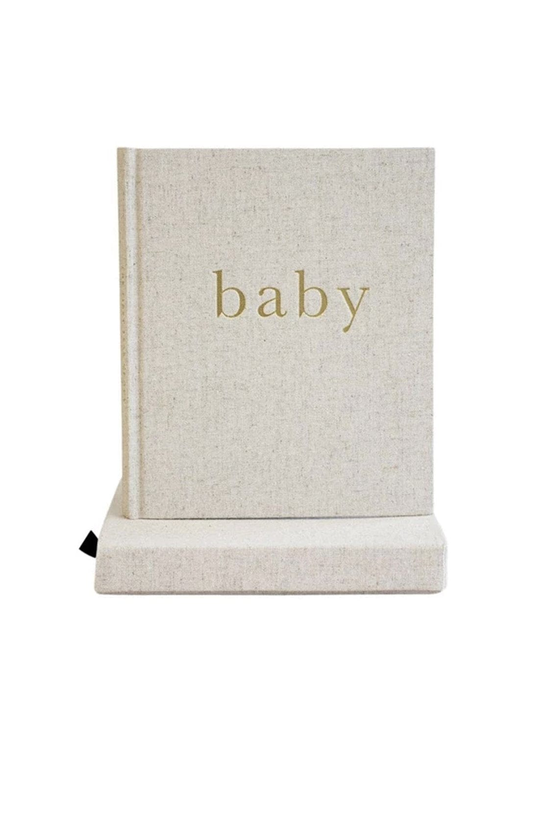 WRITE TO ME BABY JOURNAL THE FIRST YEAR OF YOU NATURAL / GOLD - Hello Little Birdie