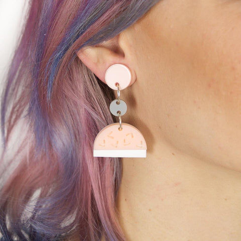 Confetti Drop Earrings - Strawberry Lemonade (Blush)