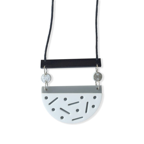 Confetti Necklace - Ooo la la (black/white)