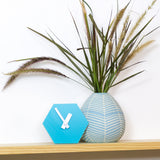 GEO Desk Clock - Aqua Blue-Amindy