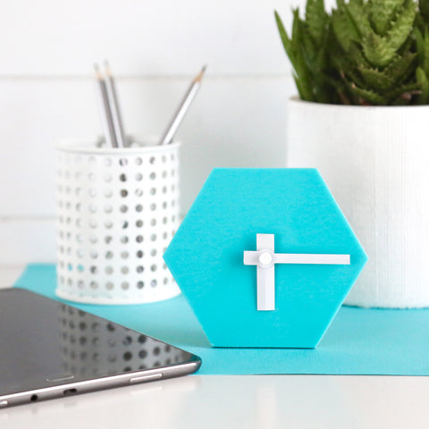 GEO Desk Clock - Aqua Blue