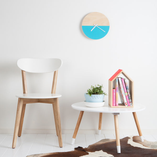 Half Moon Clock - Aqua-Amindy