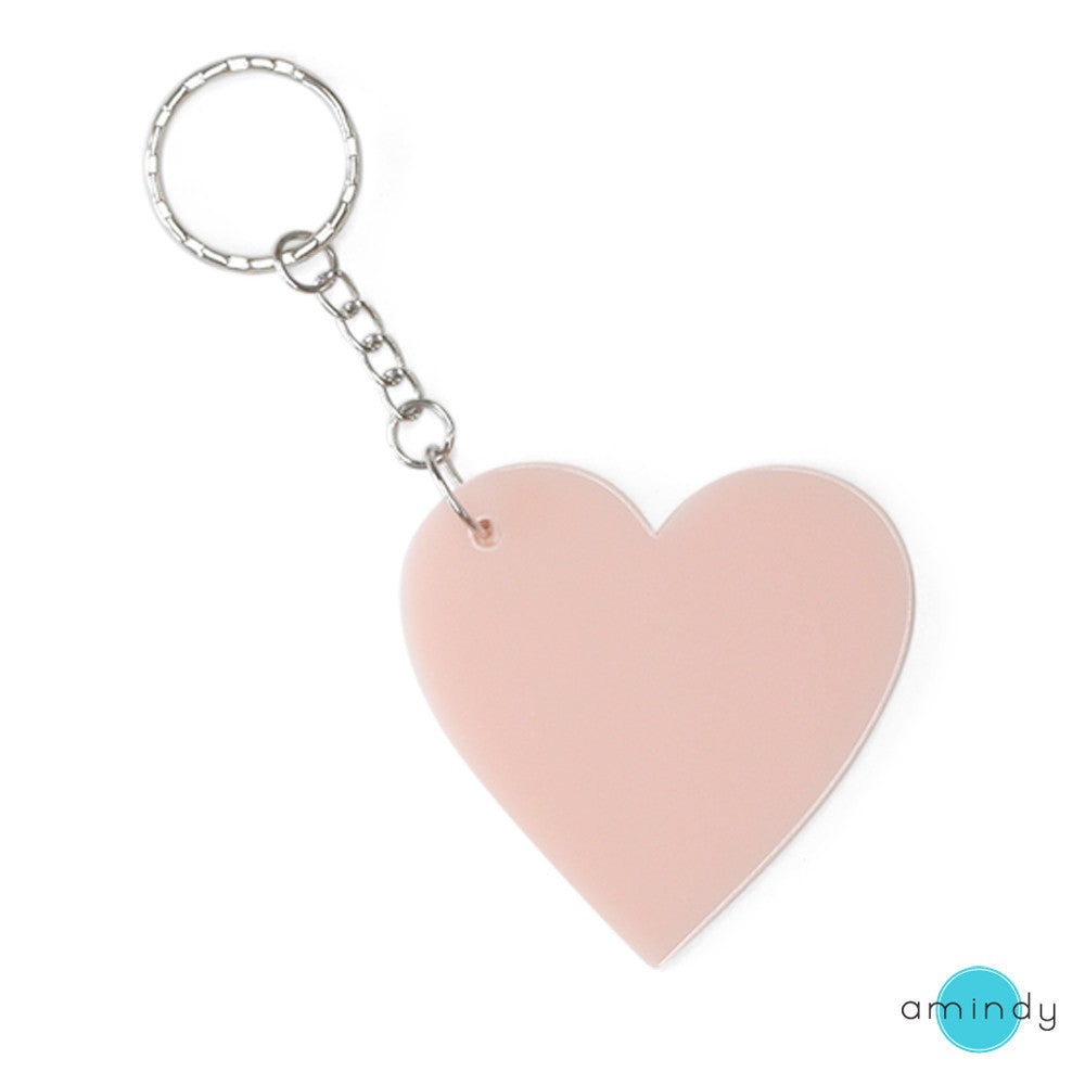 Large Heart Keyring - Miss Blush-Amindy