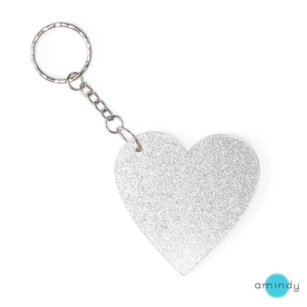 Large Heart Keyring - She's all Glam-Amindy