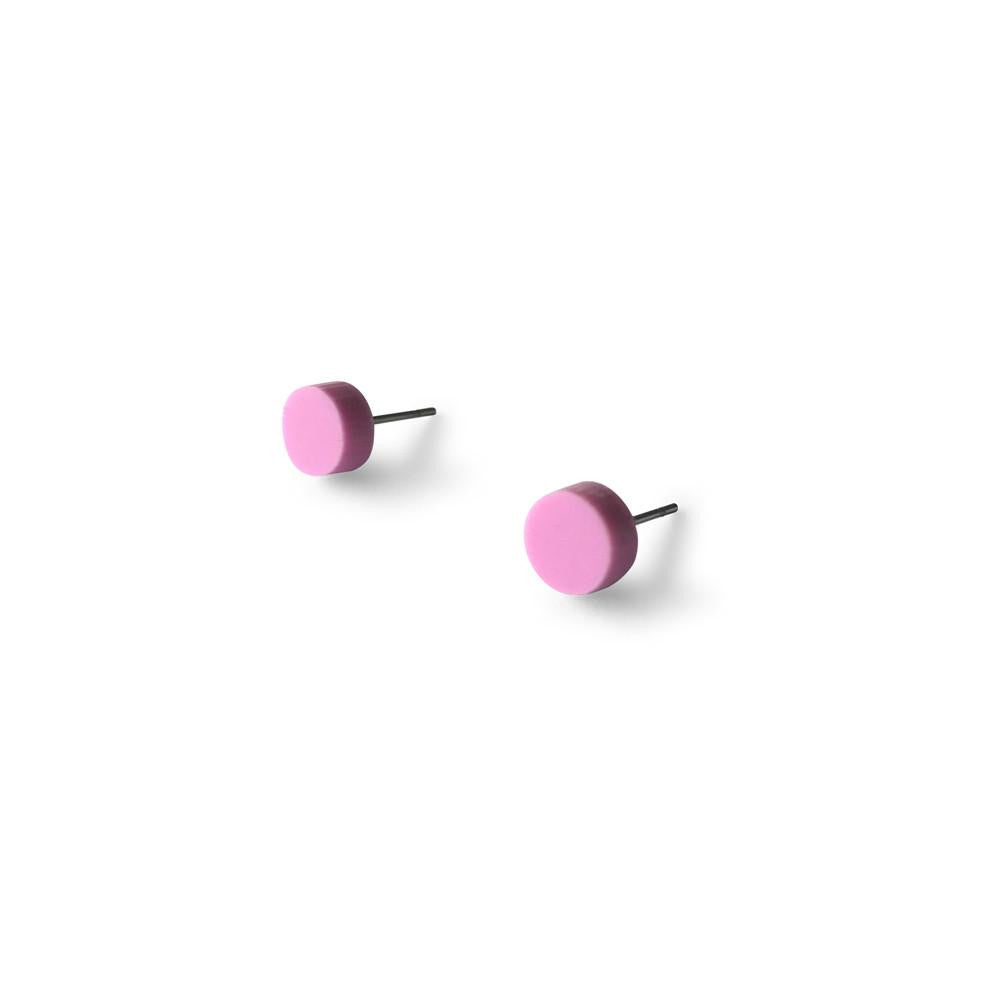 MINI - Circle Earring Studs - Pastel Purple-Amindy