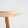 Connect solid oak dining table edge detail