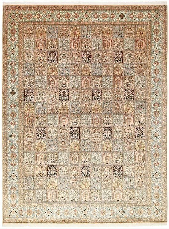 1576 - Stunning Kashmir (Indian) Hand Knotted Pure Silk Rug - 250 X 350cm