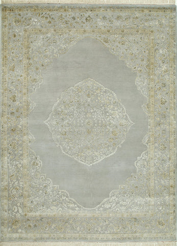 1235 - Stunning Kashmir (Indian) Hand Knotted Wool and Silk Rug - 200 X 300cm (other sizes available)
