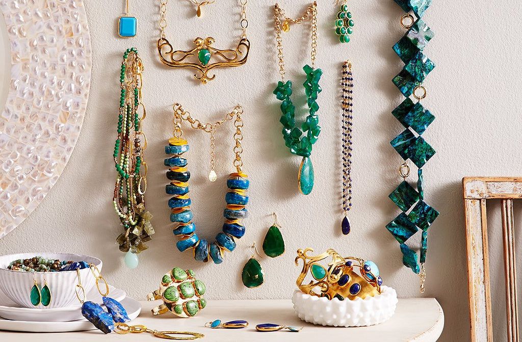 Vintage jewelry wall display
