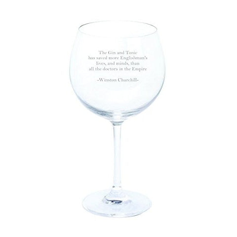 Dartington Winston Churchill Gin and Tonic Quote Wine & Bar Gin & Tonic Copa Glass