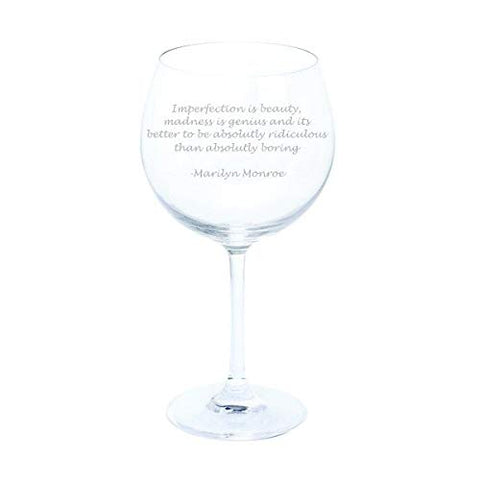 Dartington Marilyn Monroe Gin and Tonic Quote Wine & Bar Gin & Tonic Copa Glass