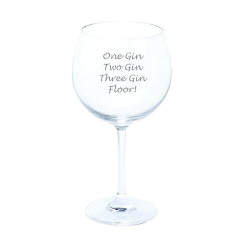 Dartington Personalised One Gin, Two Gin, Three Gin, Floor Wine & Bar Gin & Tonic Copa Glass