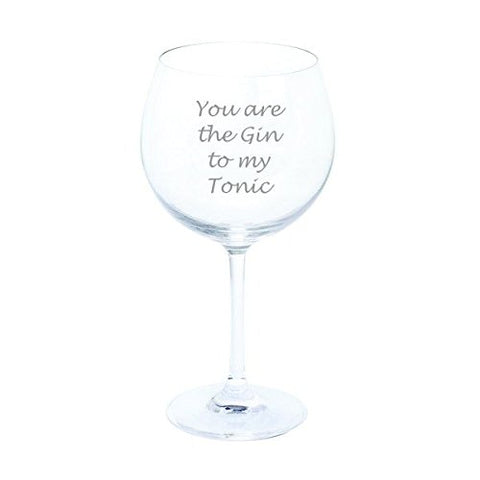 Dartington Personalised You are the Gin to my Tonic Wine & Bar Gin & Tonic Copa Glass