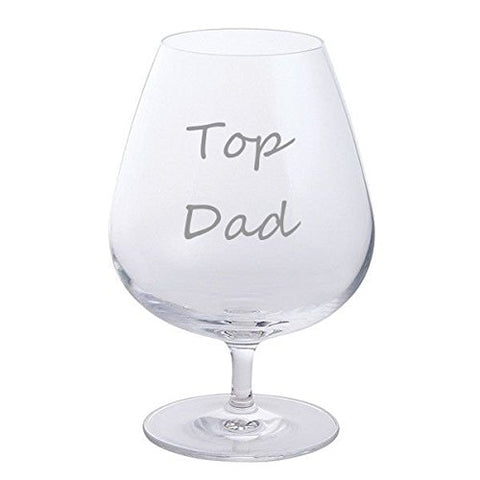 Father's Day Dartington Brandy Glass (Top Dad)