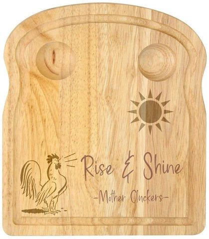 Breakfast Egg Board - Rise & Shine Mother Cluckers