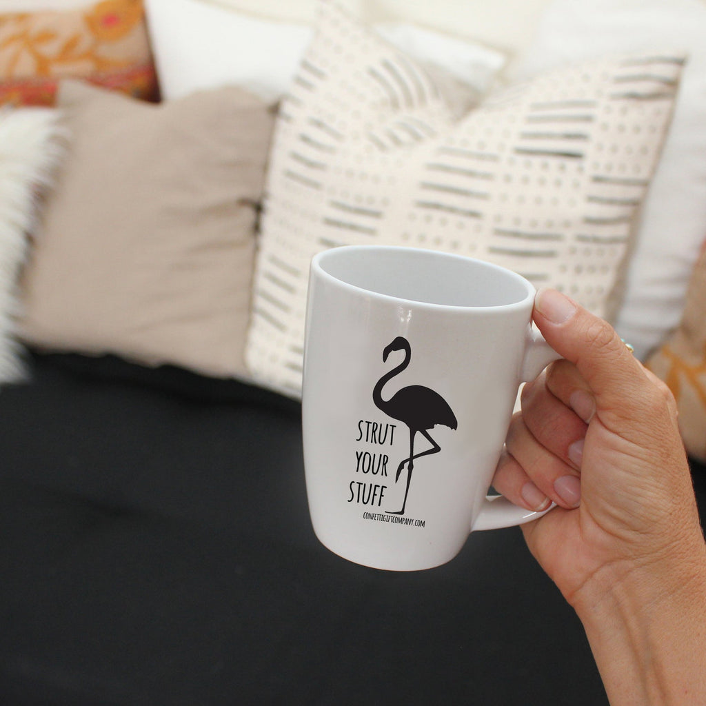 Stand Tall Darling Flamingo Mug Box