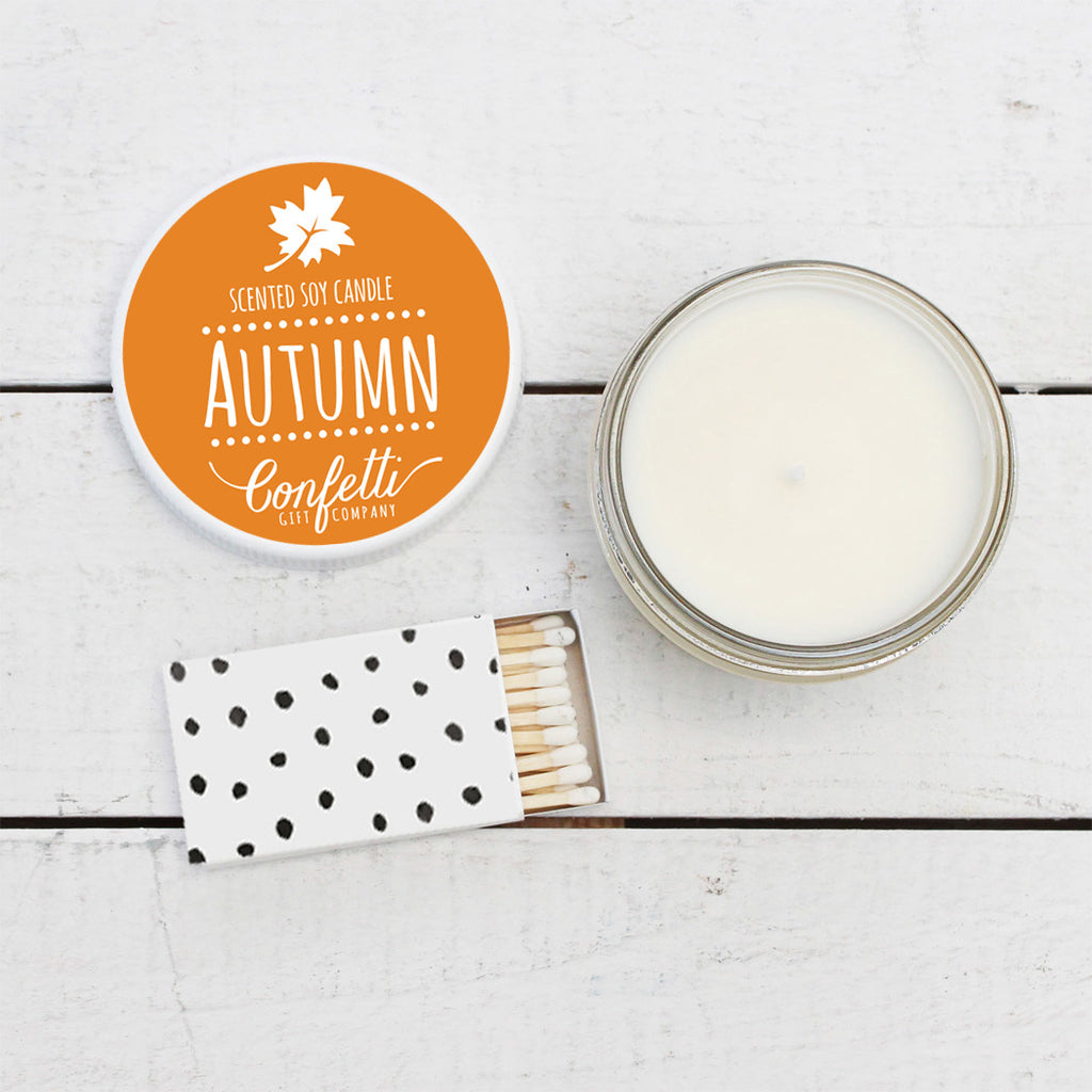 Autumn Scented Soy Candle - 4 oz