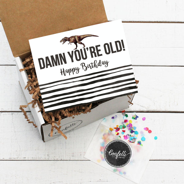 Build Your Own Damn You're Old! Birthday Gift Box