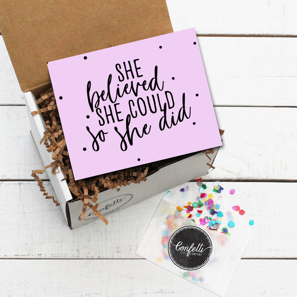 Build Your Own She Believed She Could Gift Box