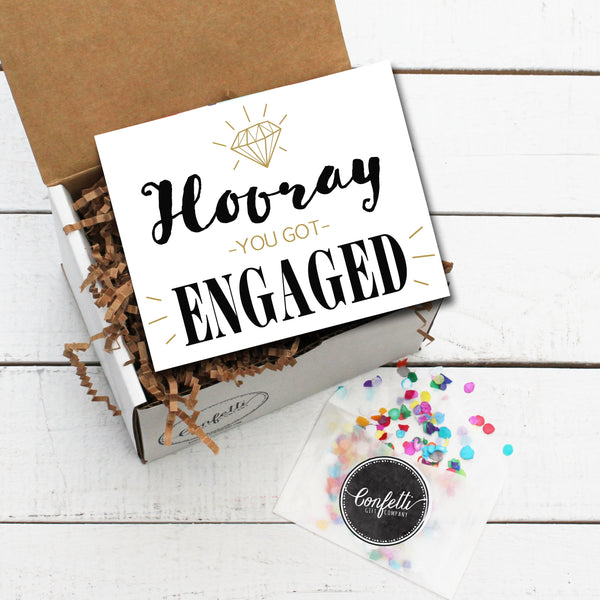 Build Your Own Hooray, You Got Engaged Gift Box