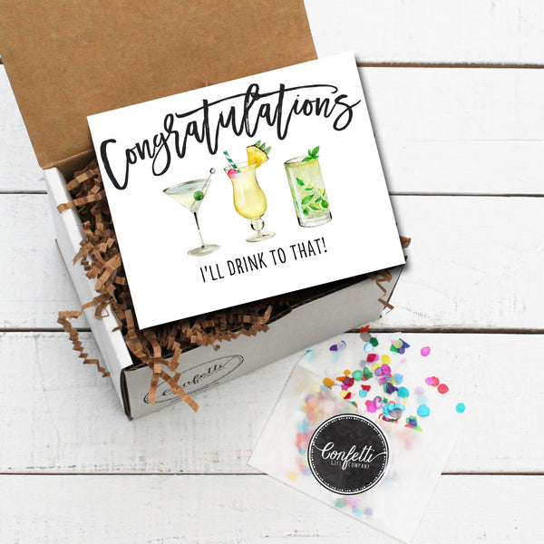 Build Your Own Congratulations, I'll Drink to That Gift Box