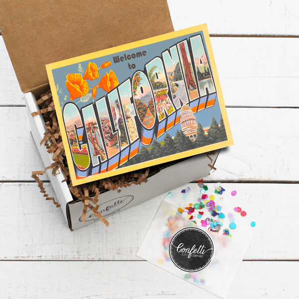 Build Your Own Vintage Welcome to California Gift Box