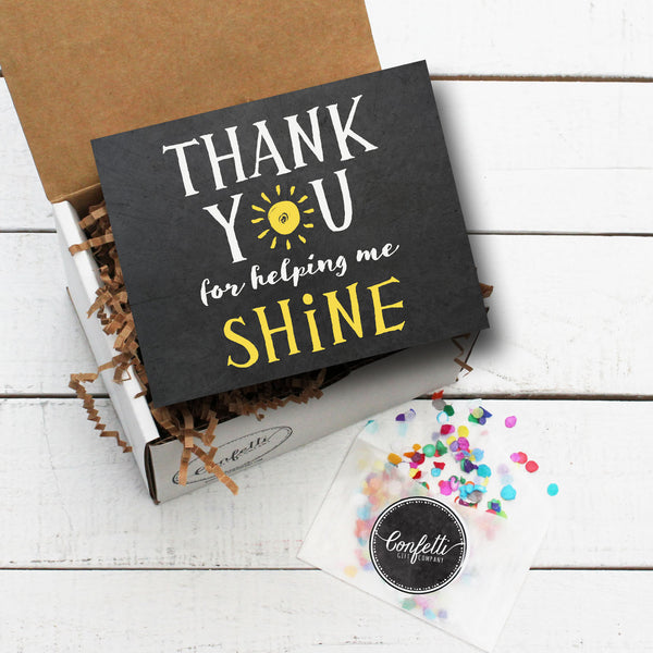 Build Your Own Thank You For Helping Me Shine Gift Box