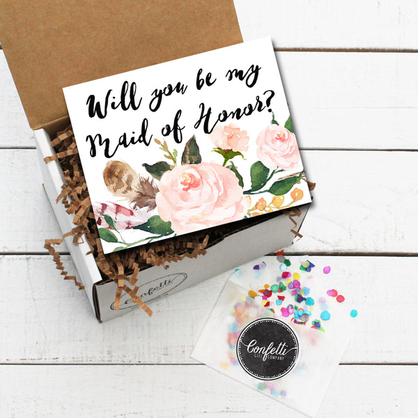 Build Your Own Will You Be My Maid of Honor Gift Box