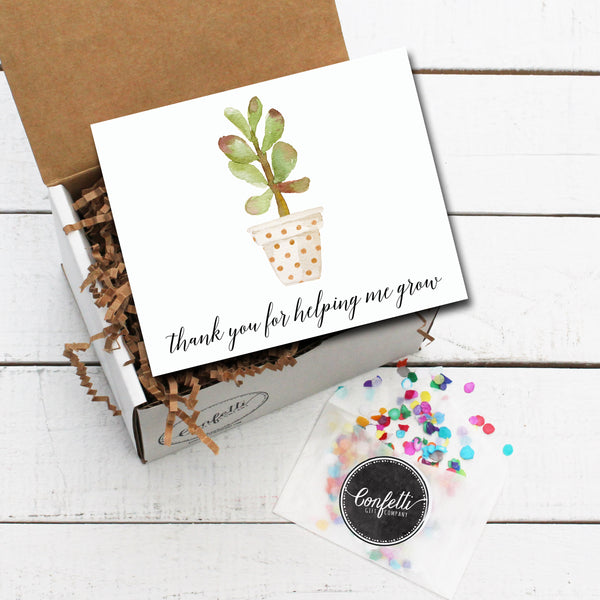 Build Your Own Thank You For Helping Me Grow Gift Box