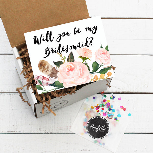 Build Your Own Will You Be My Bridesmaid Gift Box