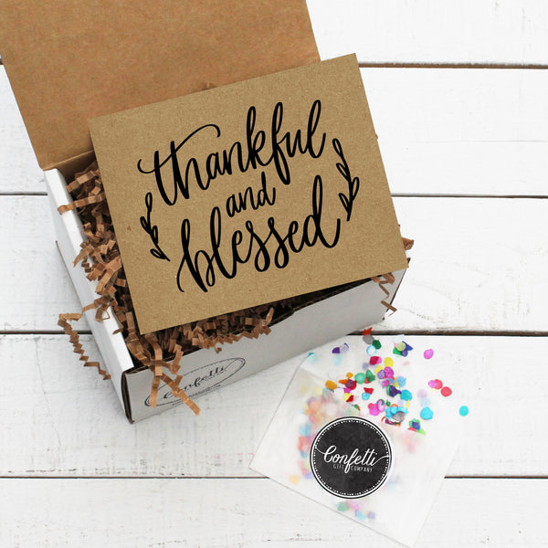 Build Your Own Thankful and Blessed Gift Box
