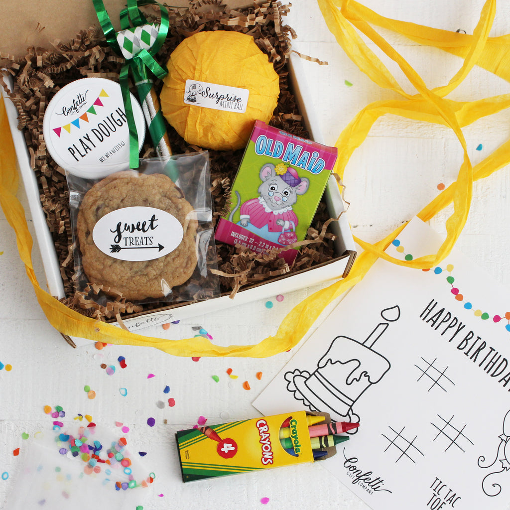 Happy birthday gift box confetti gift company succulent gift kids birthday gift box negle Image collections