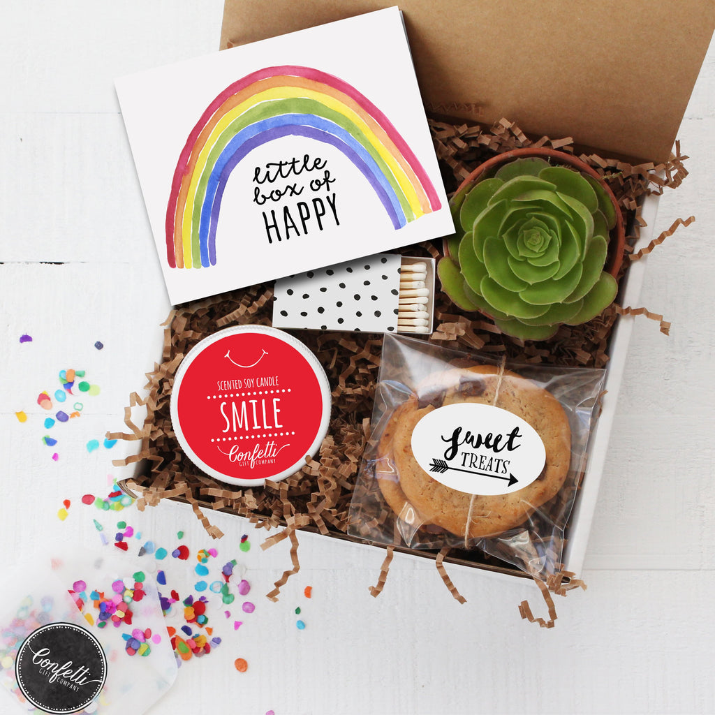 Send a Smile - Little Box of Happy Gift Box - Succulent Gift Box