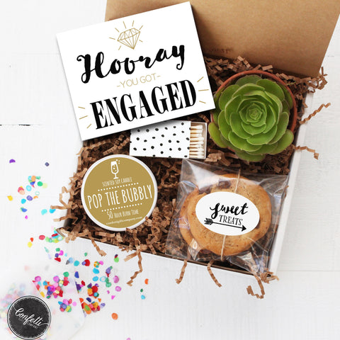 Engagement Gift - Hooray You Got Engaged Gift Box