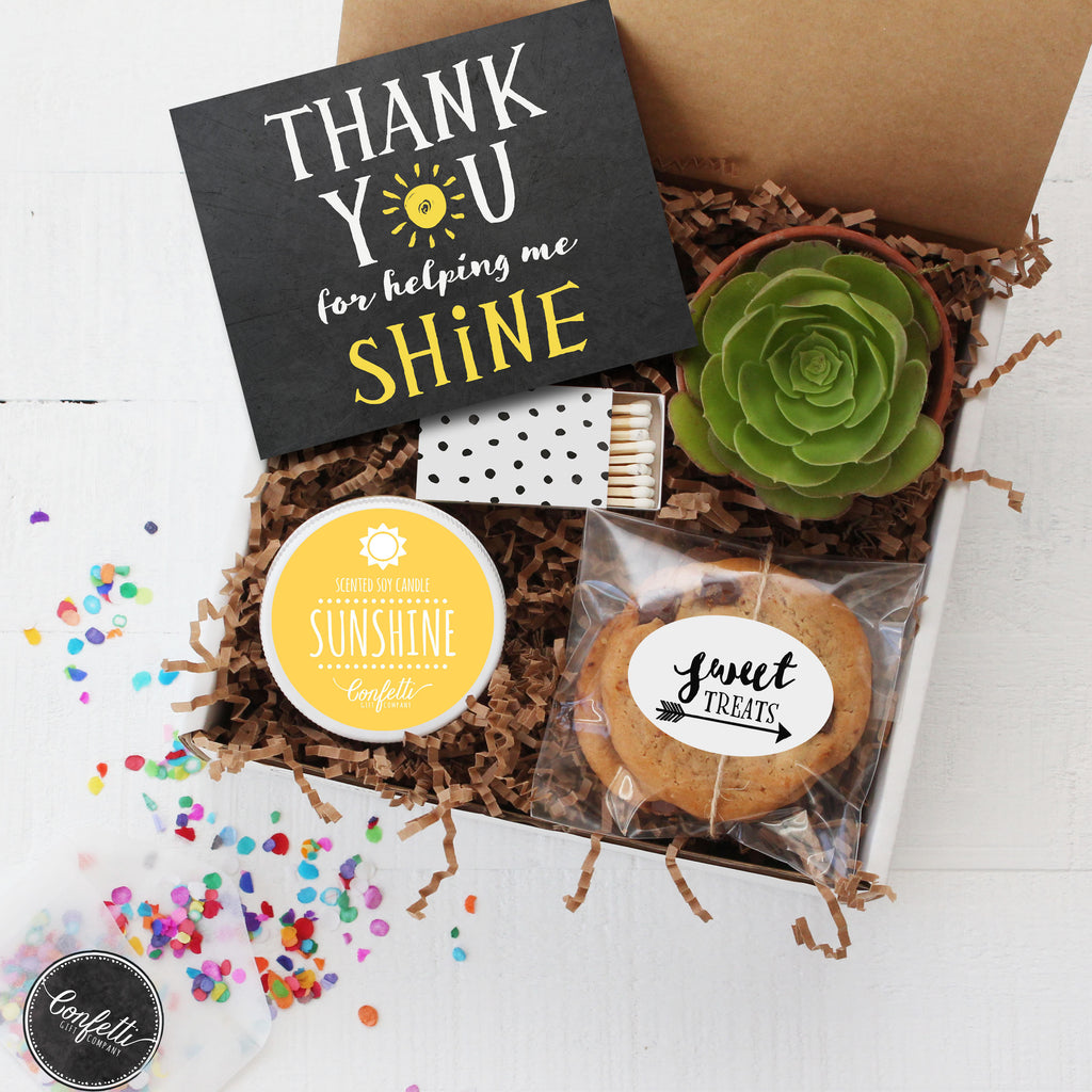 Thank You for Helping Me Shine - Teacher Thank You Gift Box